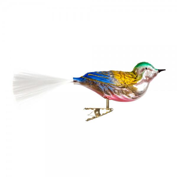 Vogel mit gedrehten Kopf, gespritzt