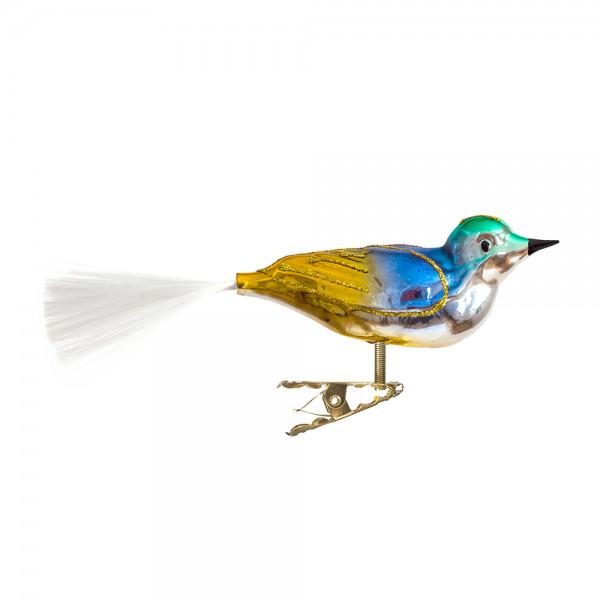 kleiner Vogel mit gedrehten Kopf, gespritzt