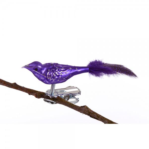 Mini-Vogel, Glimmerpunkte, farbige Perlhuhn-Feder