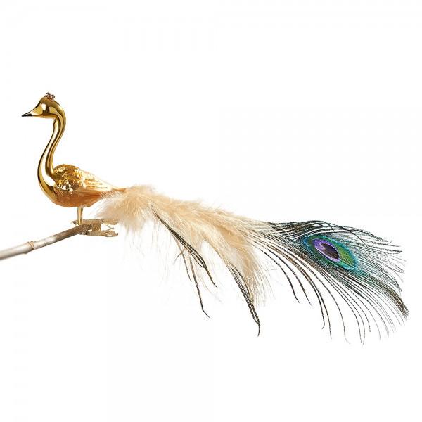kleiner Halsvogel, gespritzt, mittl. + Pfauenfeder