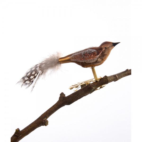 Mini-Vogel, gespritzt, Perlhuhn-Feder