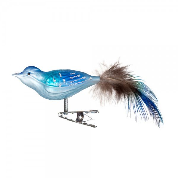 kleiner Vogel, gespritzt, Naturfeder
